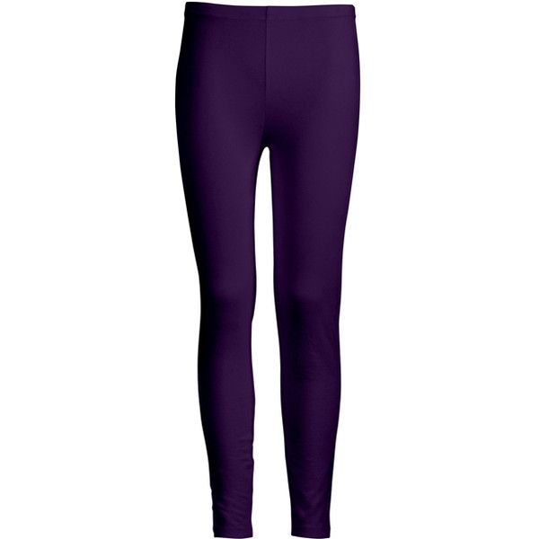 azalea purple mid-rise leggings (£9.85) ❤ liked on polyvore