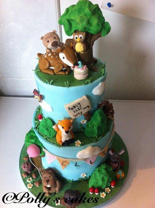 Forest Animals Cake Fab Cakes Animal Cake Cake
