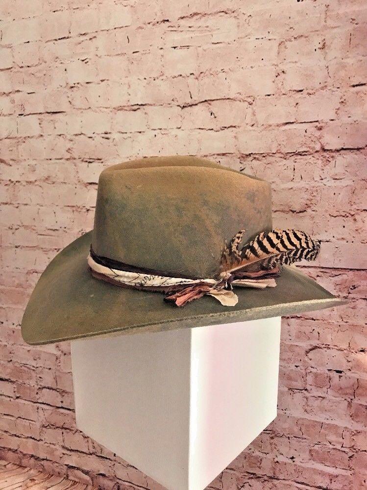"""29e848a89 Details about Stetson Stallion Men's Black Wool """"TEAGUE"""" Cowboy Hat ..."""