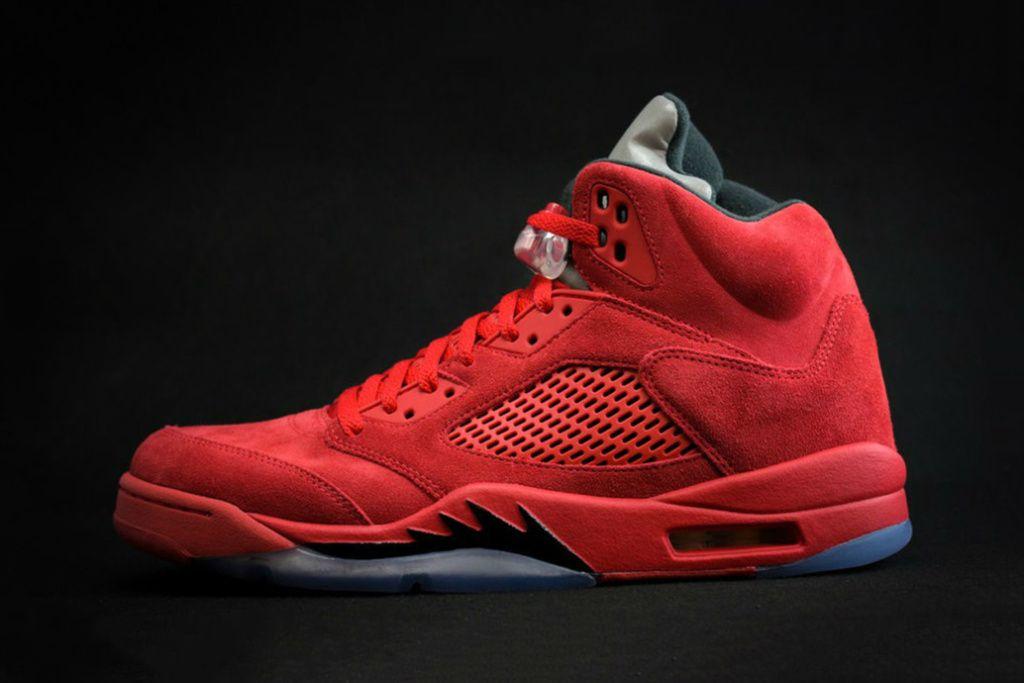 fd05534be1830 Air Jordan 5 Red Suede 2017 Mens basketball shoes