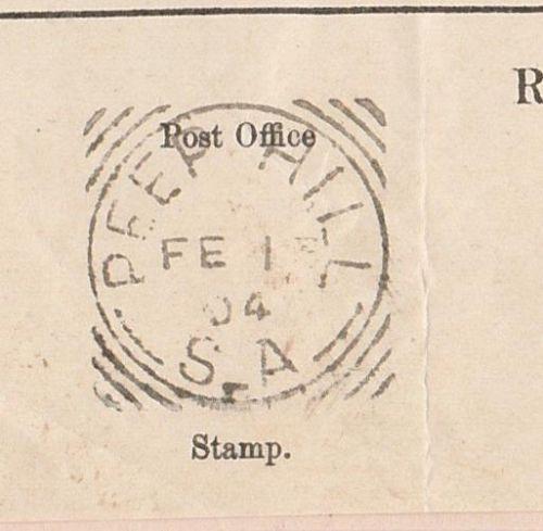 SOUTH-AUSTRALIA-PEEP-HILL-Sq-CIRCLE-POSTMARK-1904-LAND-TAX-FORM - tax form