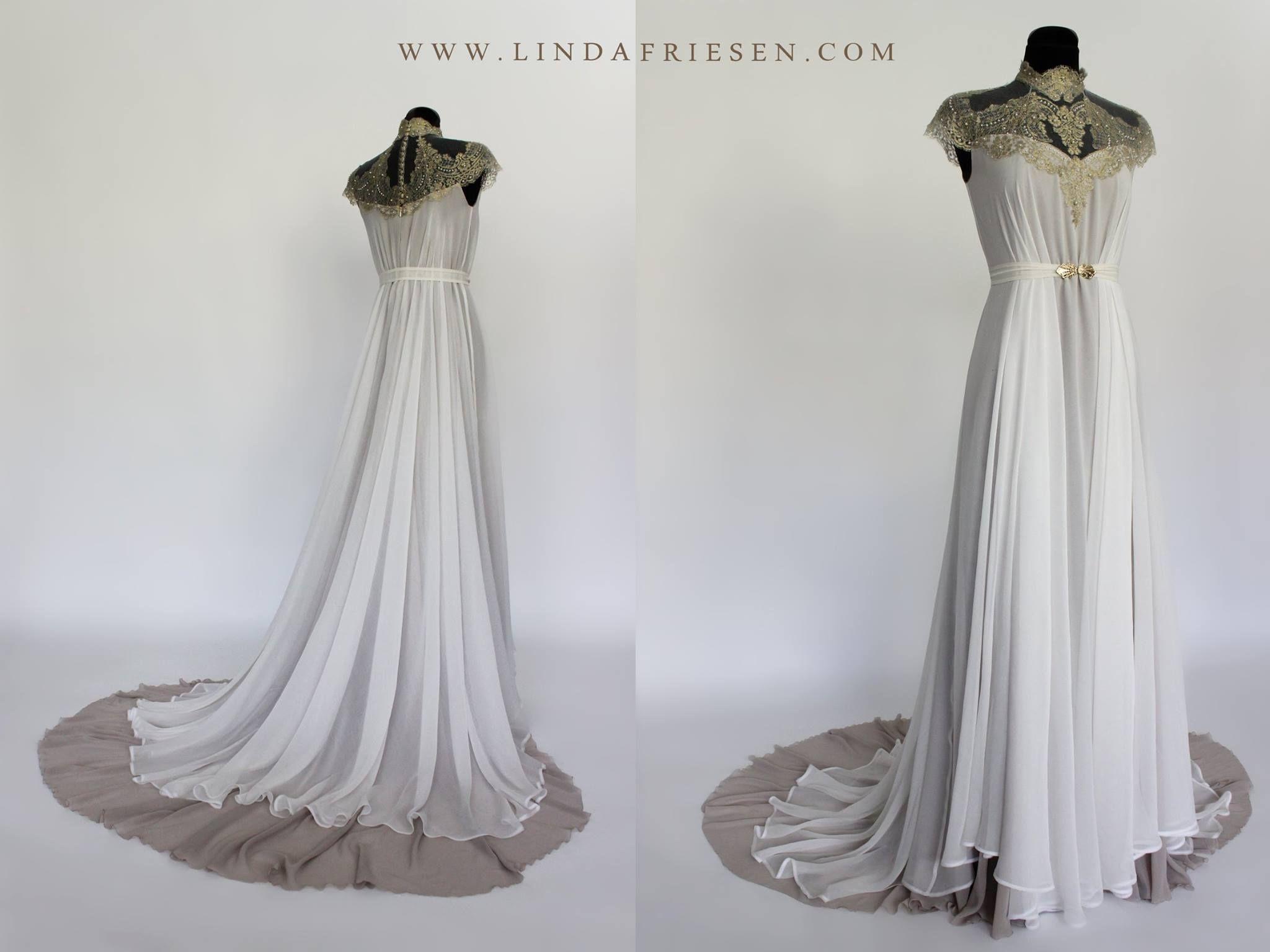 Linda Friesen 4 O Clock Art Nouveau Wedding Dress Wedding Dresses Beautiful Wedding Gowns