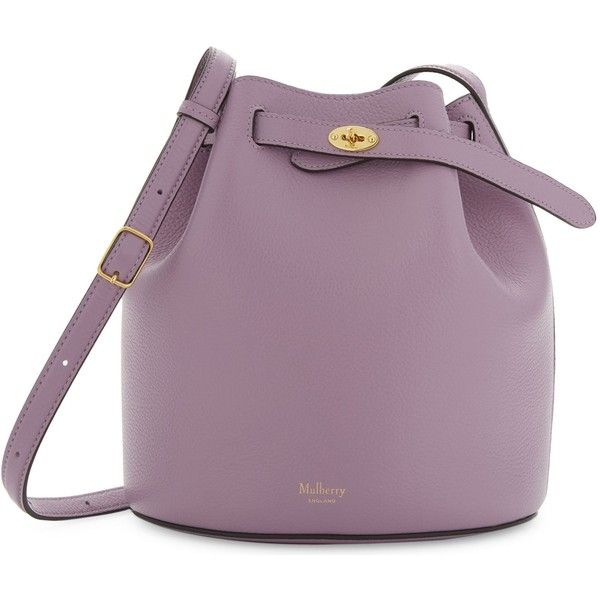 0f0ead5e75 Mulberry Abbey grained leather bucket bag ( 710) ❤ liked on Polyvore  featuring bags