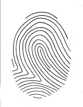 fingerprint poetry writing template grades 4 12 unique writing