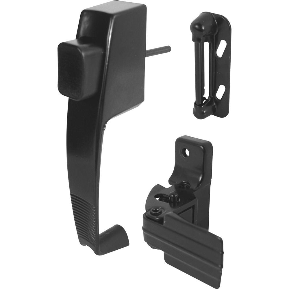 Prime-Line Black Push Button Latch with Tie Down | Products
