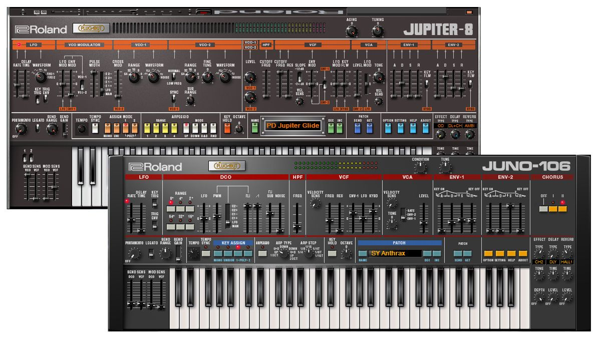 You can now download VST/AU Jupiter-8 and Juno-106 plugins