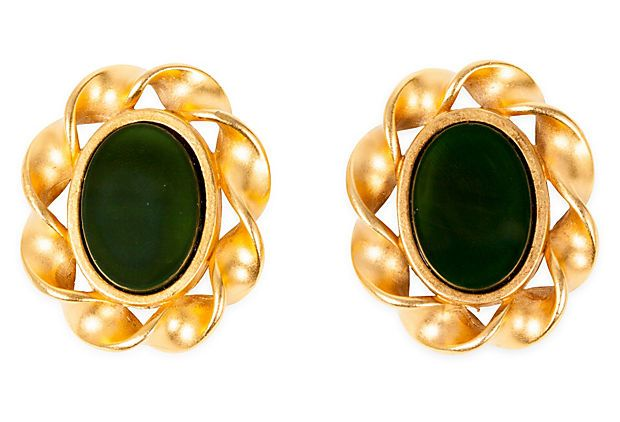 Karl Lagerfeld Gold Stone Earrings on OneKingsLane.com   $699.00