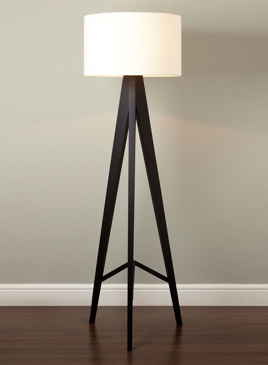 tripod floor lamp design inspiration come with cream scheme drum shaped shade lamp and 3 black stained wooden tripod floor lamp legs also white grey painted