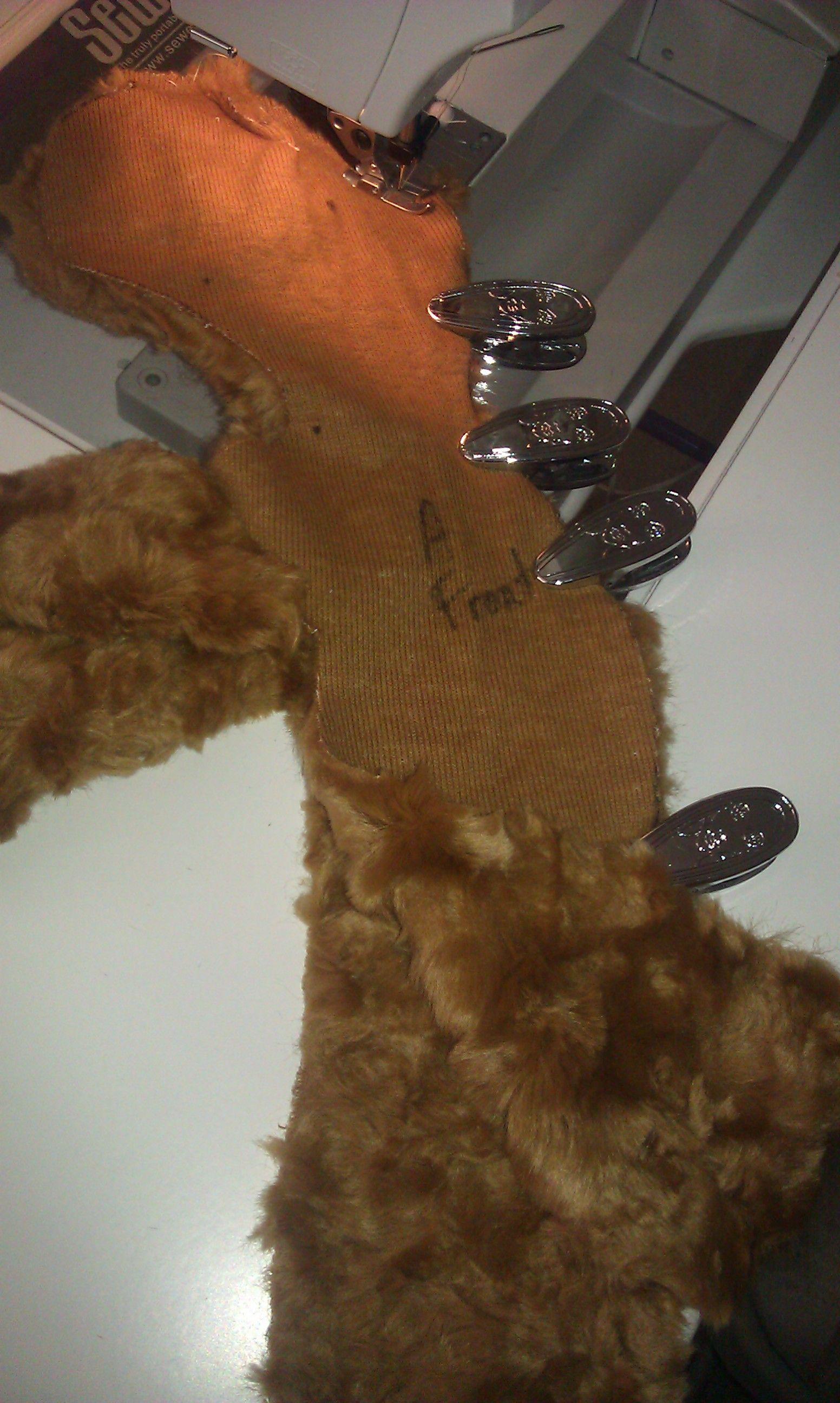Carol Bledsoe brings a teddy bear to life in fake fur for her grandaughter!