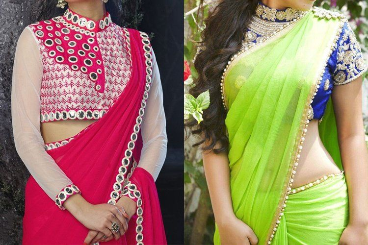 How To Design A Plain Saree At Home | designing a plain