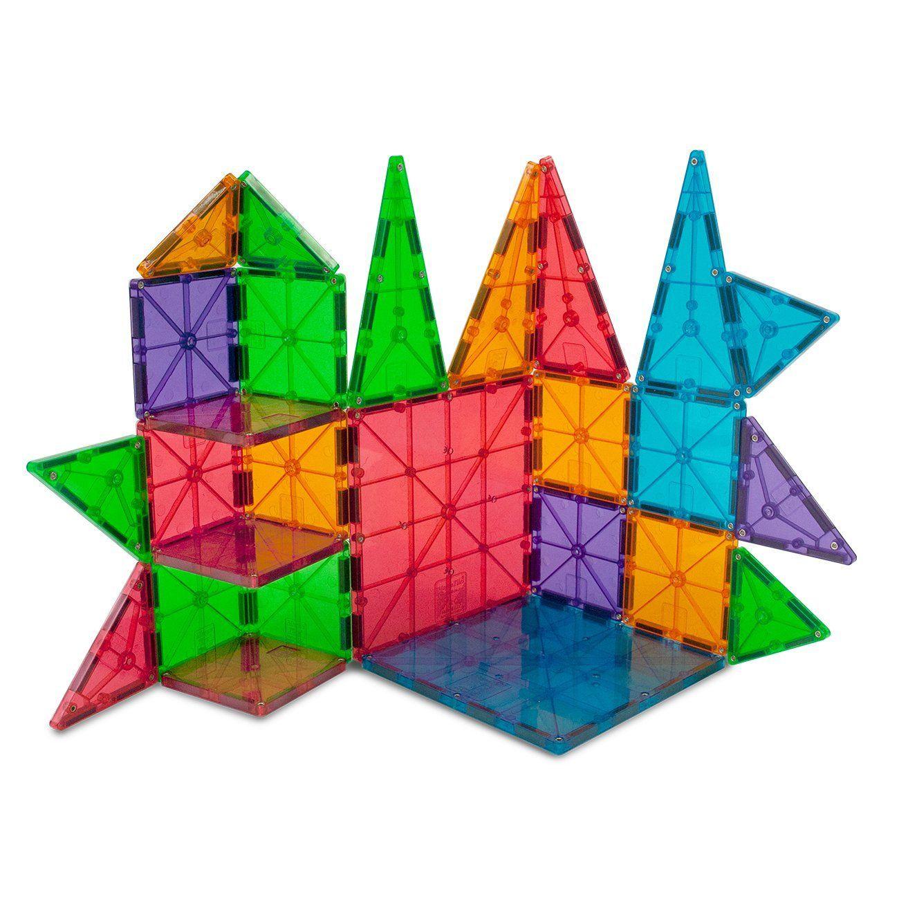 Amazon Com Magna Tiles Clear Colors 100 Piece Set Industrial Scientific Building Toys For Kids Magnetic Tiles Magnetic Building Tiles