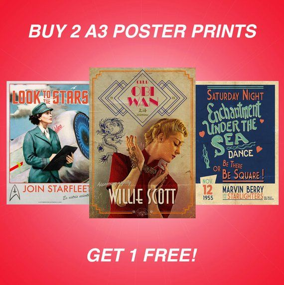 Buy ANY 2 A3 Poster Prints And Get 1 FREE