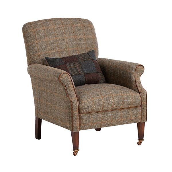 Bon This Harris Tweed Armchair Is Part Of Our Tetrad Collection   British Made Tweed  Furniture   View This Designer Armchair Today At Barker And Stonehouse