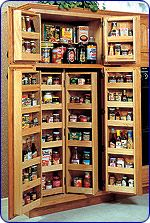kitchen cabinet storage!  What a dream!