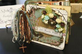 Scrapbook Multi-Pocket Mini Album -- Gabriella Paper Collection