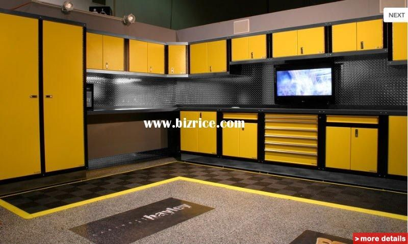 red moduline aluminum garage storage cabinets think of how much room you would have for your toyota after cleaning out that messy garage - Garage Wall Cabinets