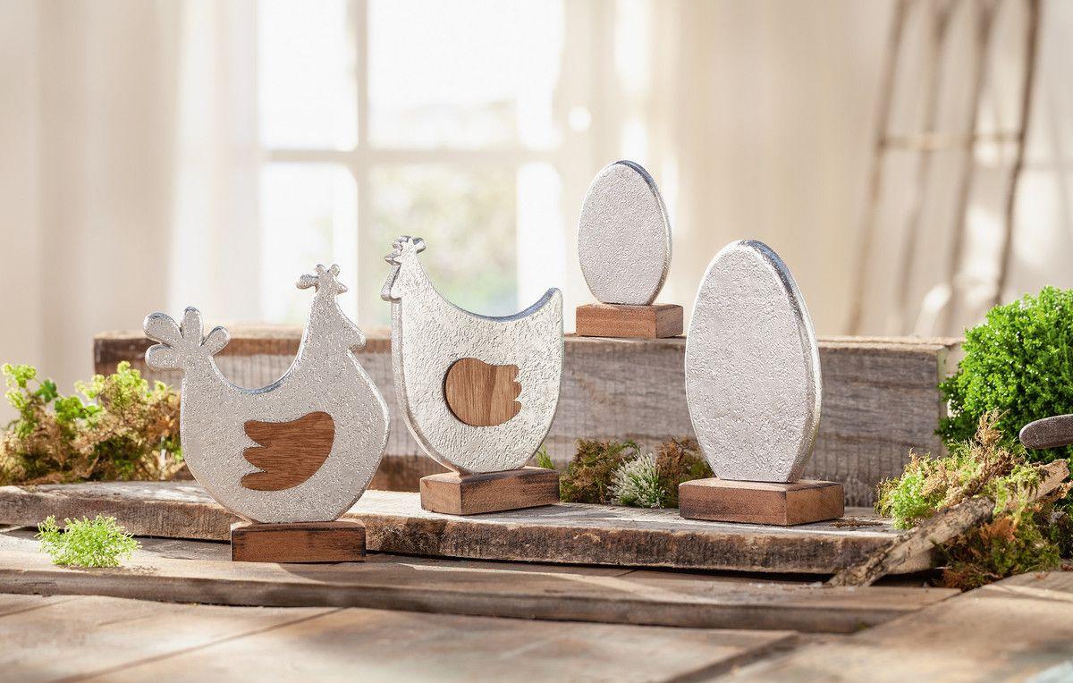 Henne Hahn Metalloptik Table Decorations Decor Home Decor
