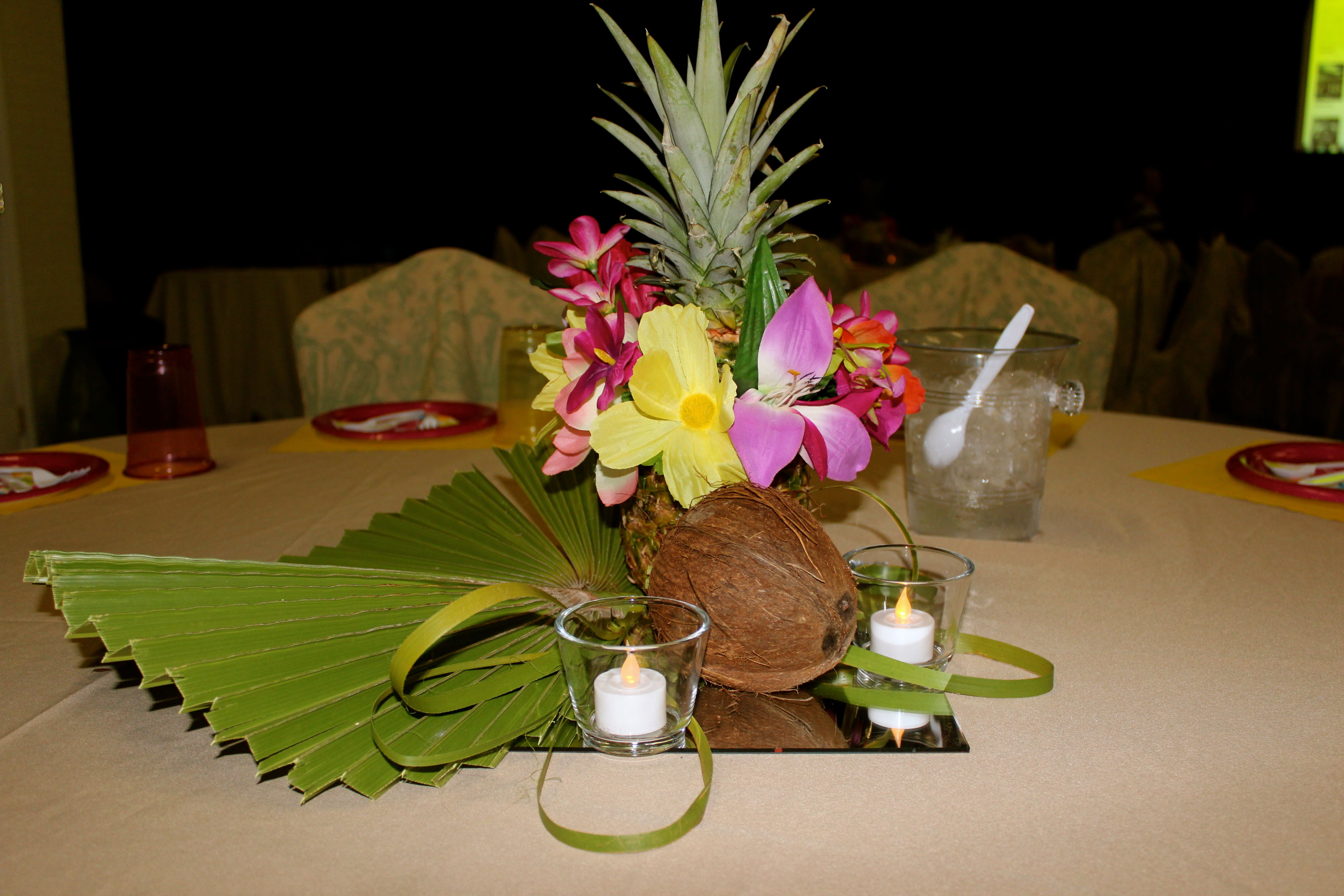 Tropical Centerpieces  Pineapple & Coconut