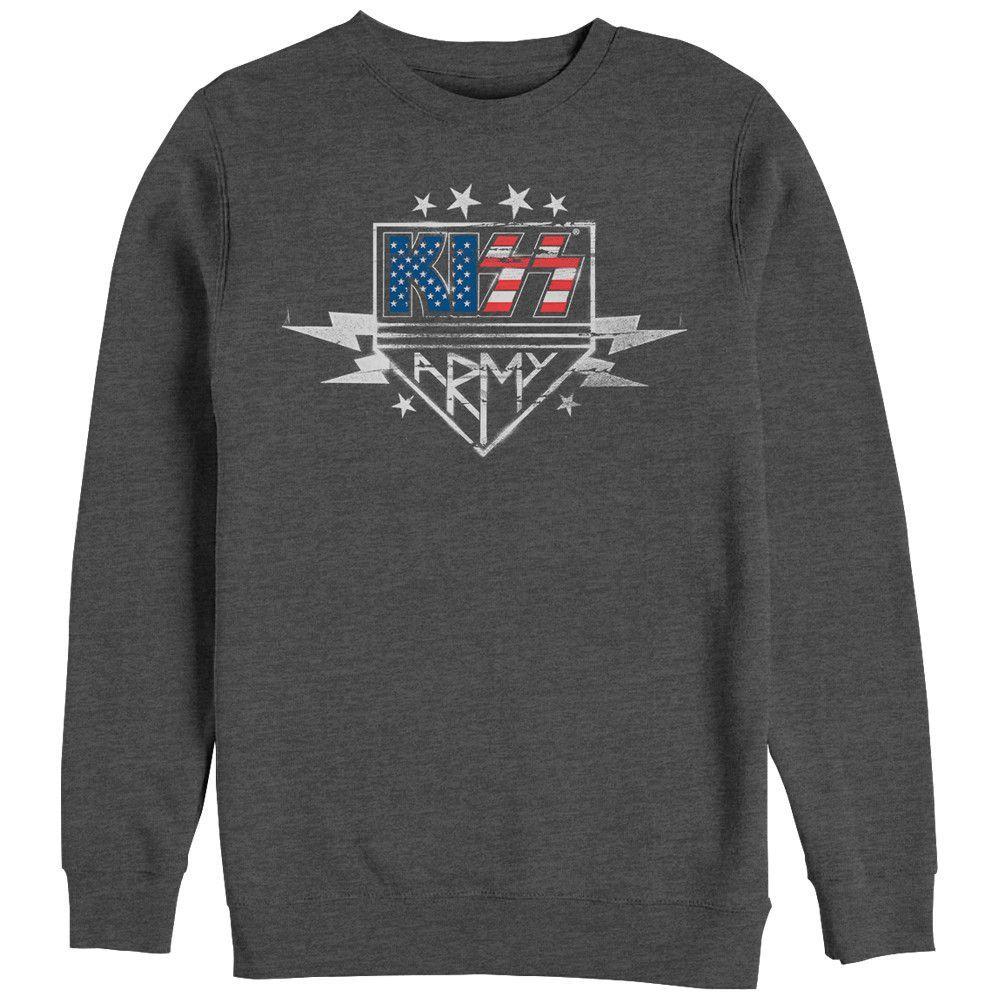 Kiss - Army Stencil Adult Crewneck Sweatshirt