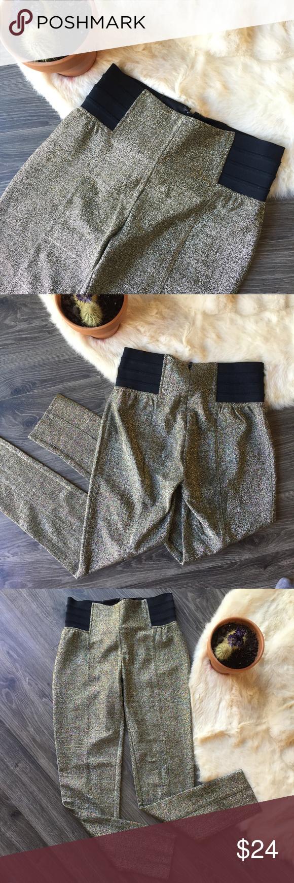 ca80c19e Forever 21 Gold sparkly leggings Forever 21 gold sparkly leggings /  stretchy pants. These would
