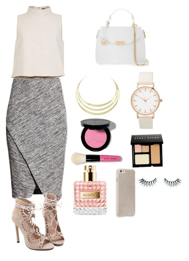 """""""hang with me - made by my little sister"""" by madelin-ruby ❤ liked on Polyvore featuring TIBI, H&M, Versace, Bobbi Brown Cosmetics, Case-Mate and Napoleon Perdis"""