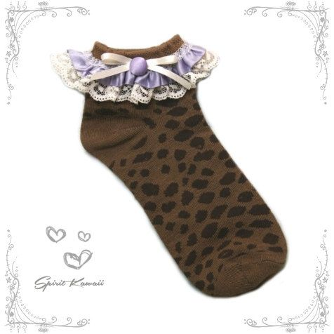 Cute lace ruffle ankle socks  Inspired Vintage  by SpiritKawaii, $6.99