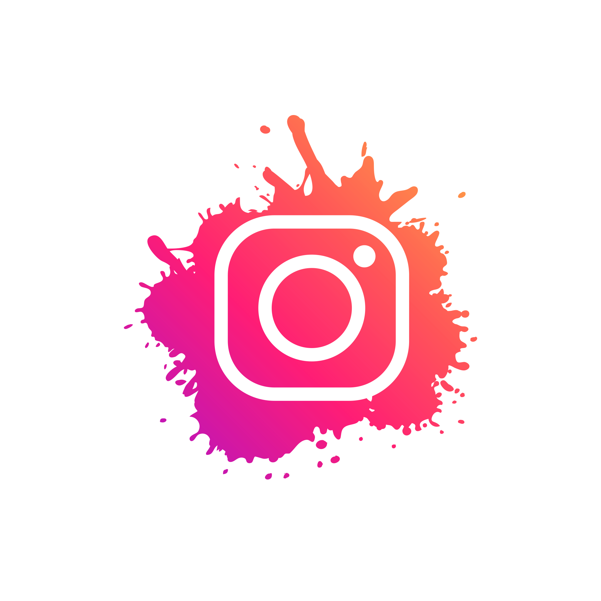Splash Instagram Icon PNG Image Free Download in 2020