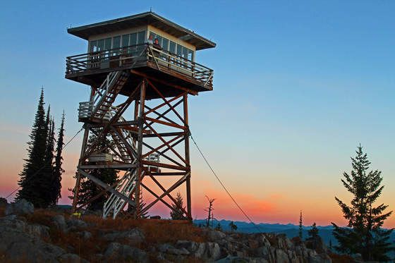 Garver Mountain Lookout Lookout Tower Watch Tower Modern Tree House