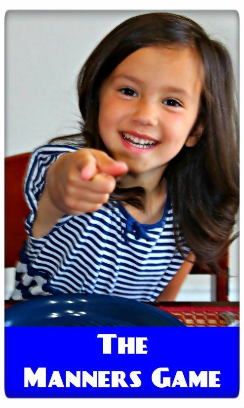 Manners games to play during dinner