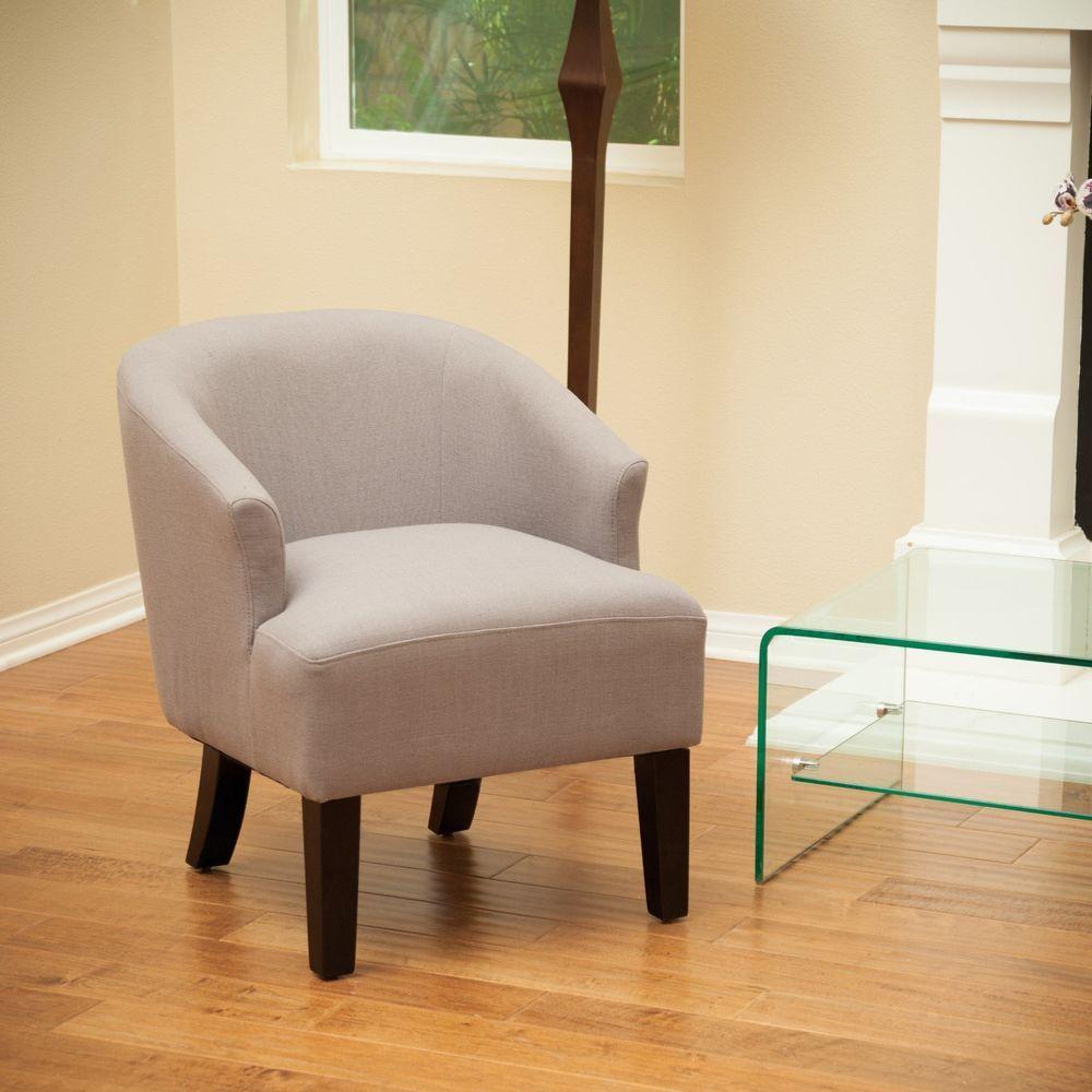 Modern Design Grey Linen Fabric Accent Chair Club Chairs Living