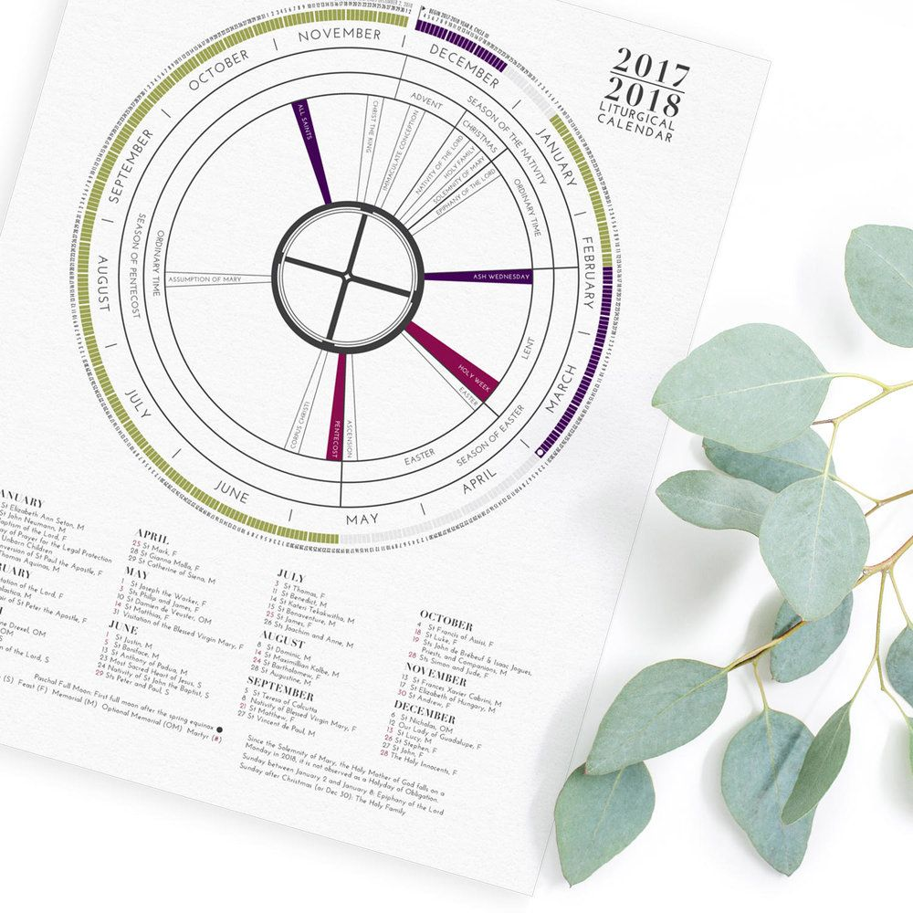Modern liturgical calendar catholic calendar catholic gifts first communion confirmation calendar first