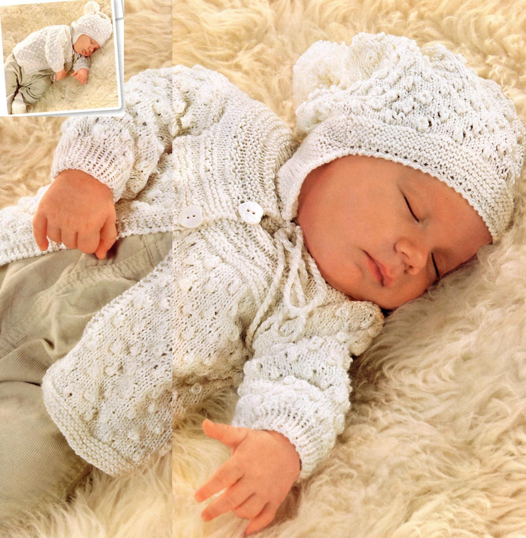 Jacke mit Rundpasse und Hüte für Neugeborene Stricken | peteliki ...
