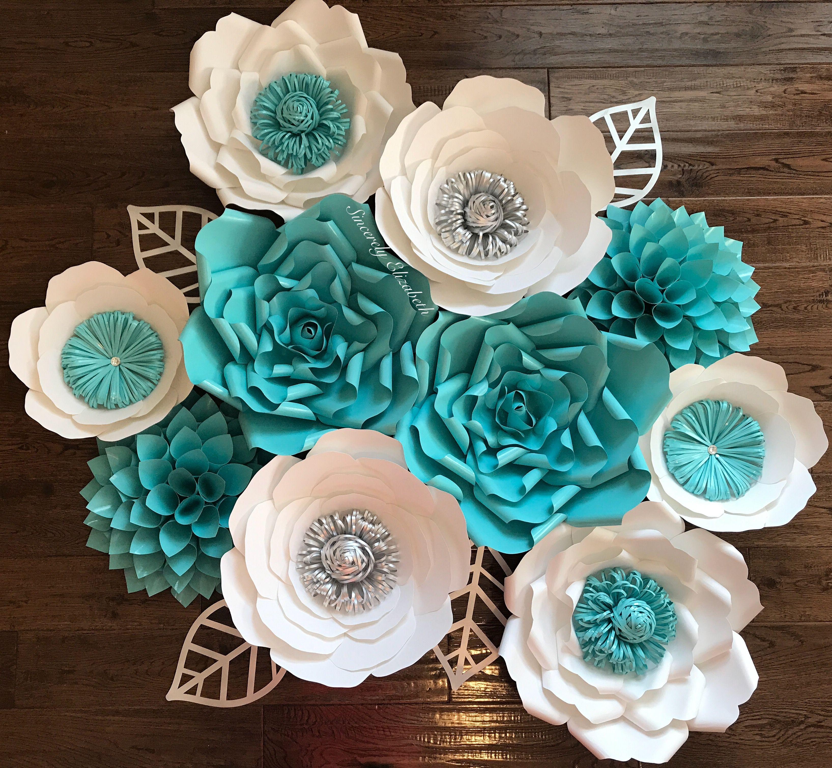 TiffBlue Wedding Backdrop Quinceañera Decor Paper Flowers