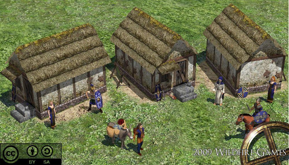 0AD Celtic houses | Vikings and Celts | Celtic, Fantasy