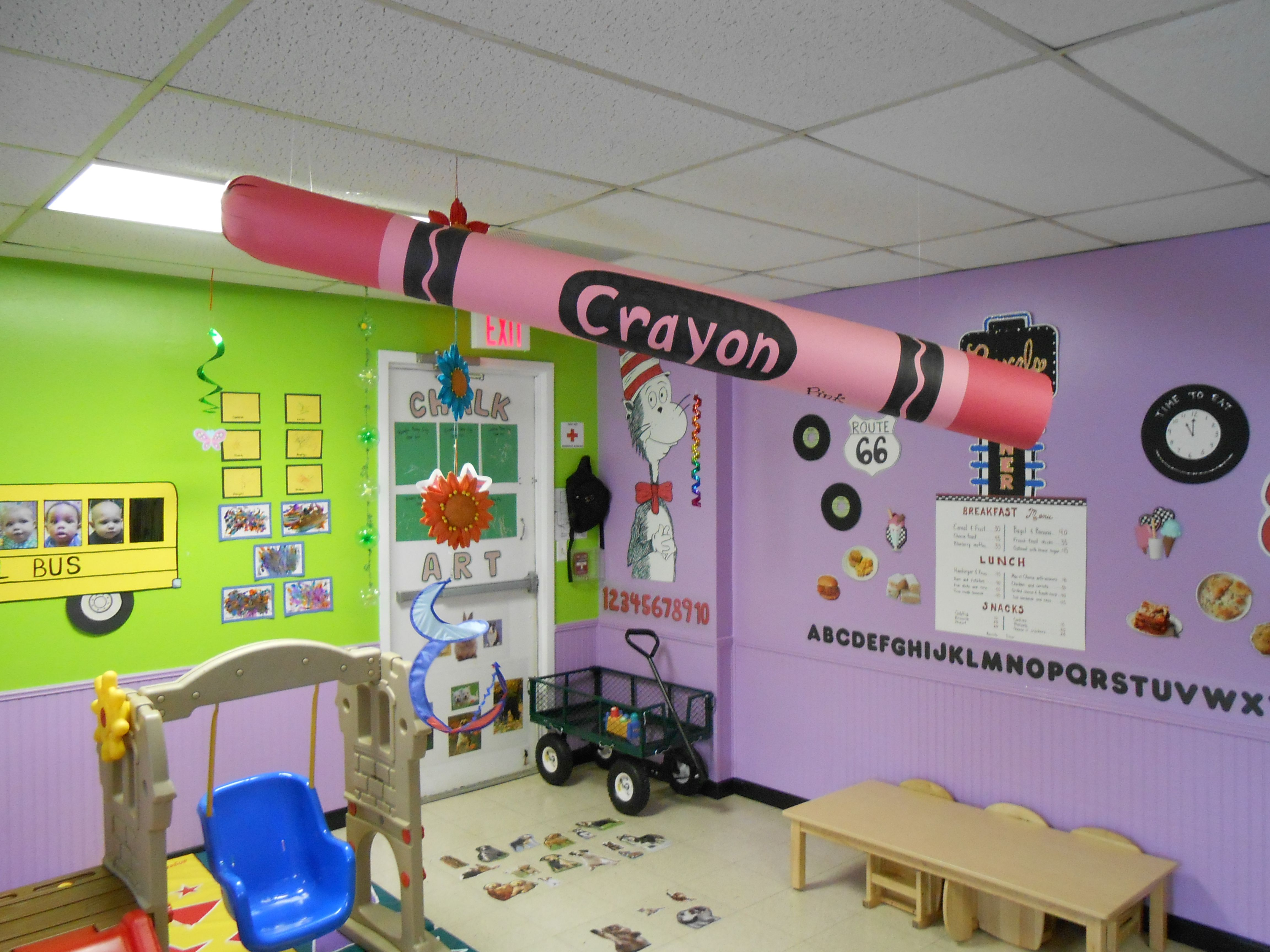 4 Foot Long Crayon Made From Construction Paper 3 D Object Back To School Theme Toddler