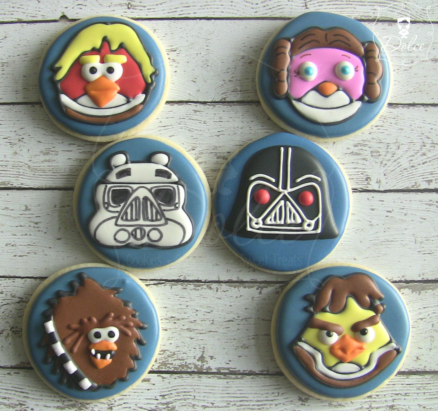 Angry Bird Star Wars Decorated Sugar Cookies