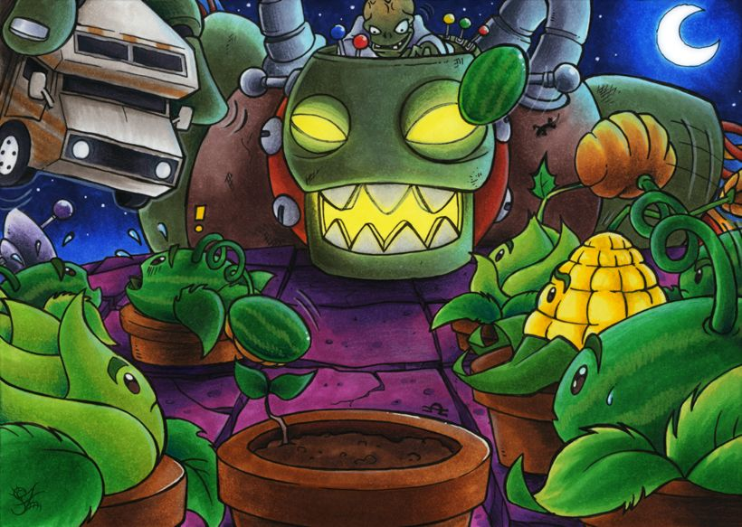 Plants Vs Zombies Dr Zomboss By Merinid De On Deviantart Plants Vs Zombies Zombie Wallpaper Zombie Art