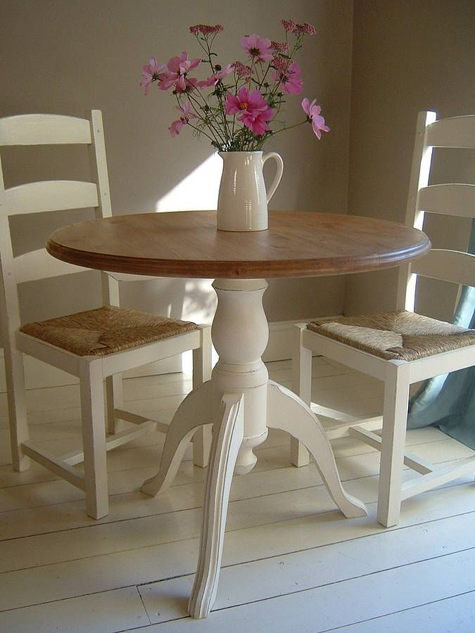 Hand Painted Pedestal Dining Table And Chairs | For the ...