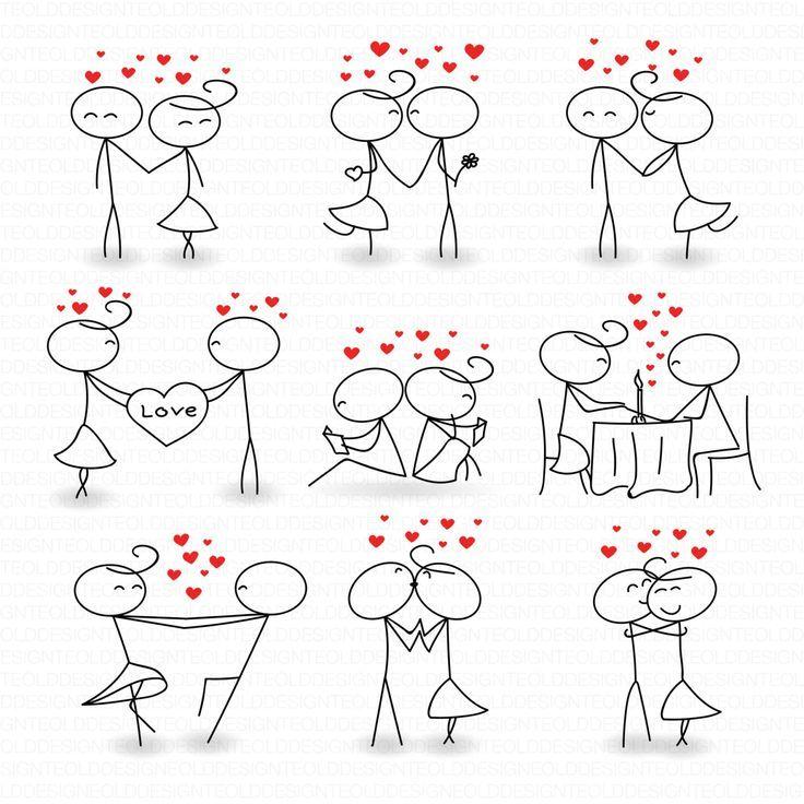 Strichmännchen Clipart Clip Art Liebe Stick Menschen Paar Clipart Clip Sofort ... - #Art #Clip #Clipart #Liebe #Menschen #paar #Sofort #Stick #Strichmännchen