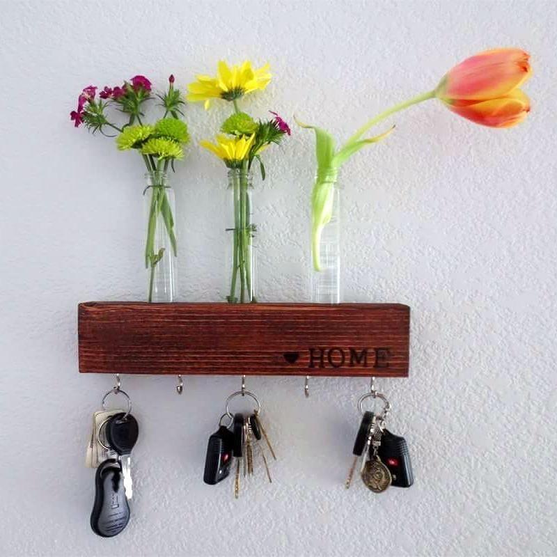 Never Lose Your Keys Again! Front Door Key U0026 Flower Holder. #practical #