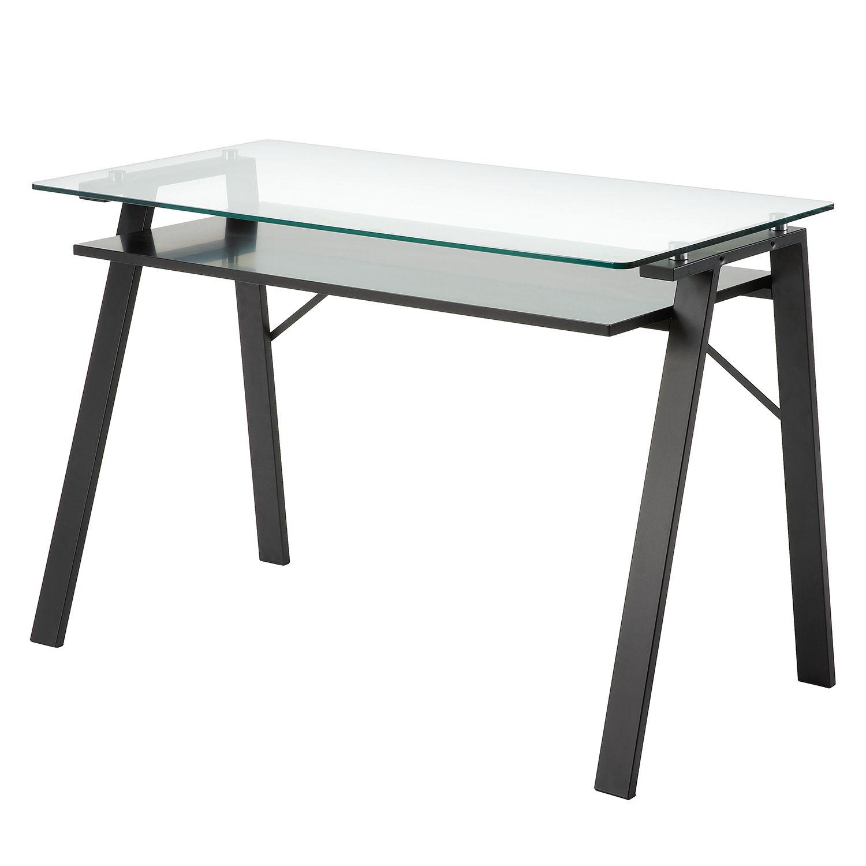 Schreibtisch Schwarz Glas