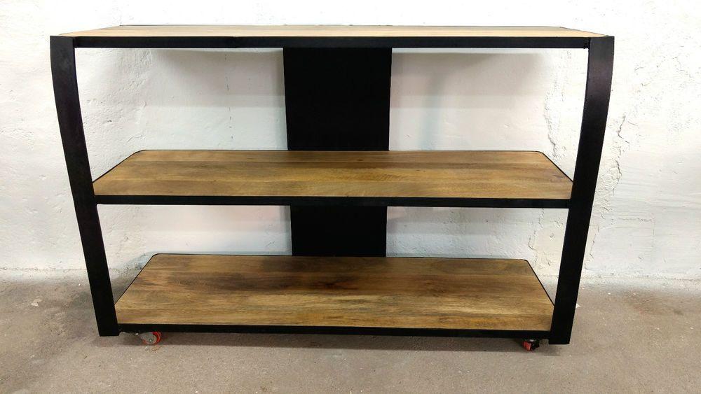 Design Badezimmerschrank ~ Vintage stahl tv schrank sideboard l loft industrie design