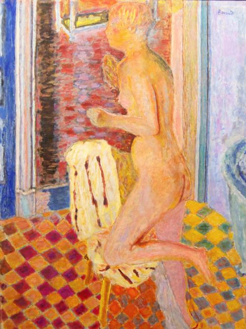 Pierre Bonnard, Desnudo con silla, 1935-1938