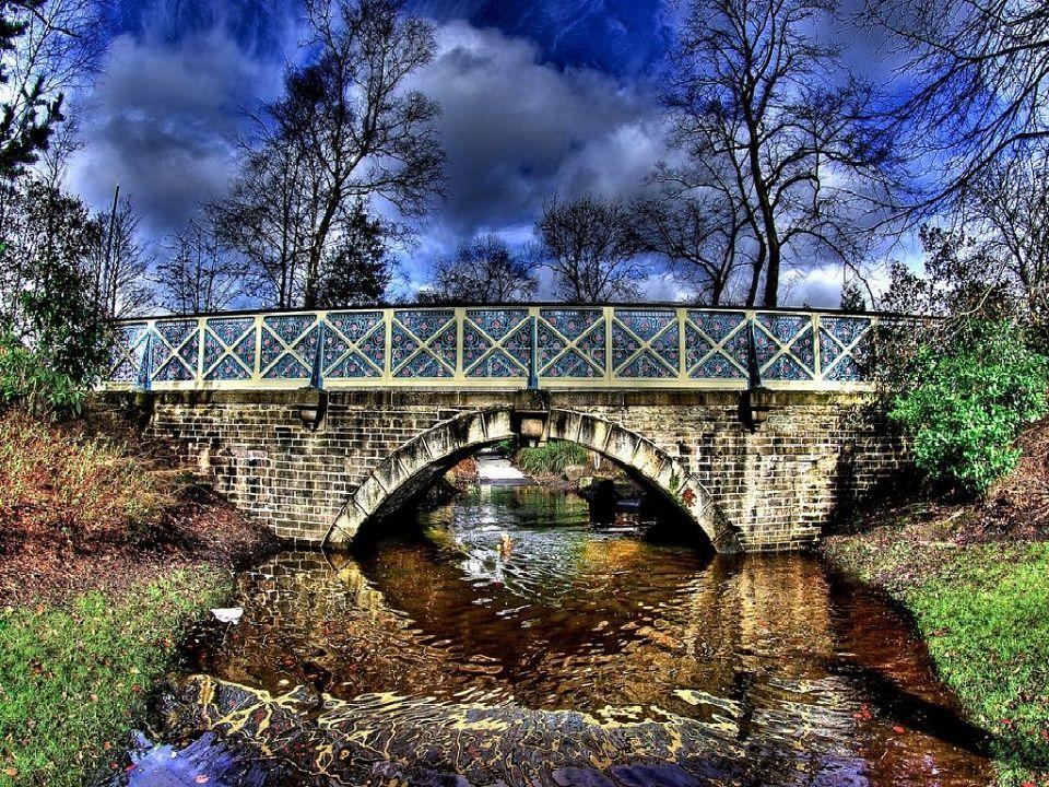 Alex Park Bridge Flood Landscape, Nature, Adventure