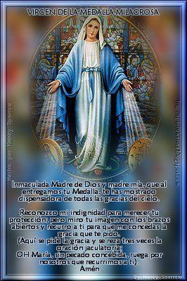 Virgen De La Medalla Milagrosa Oraciones Catolicas Oracion Virgen Milagrosa Oraciones