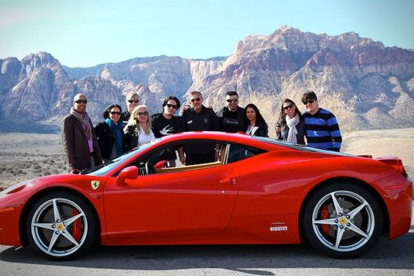 with ferrari main exotics professional on driving drive las experience supercar a racing vegas racetrack