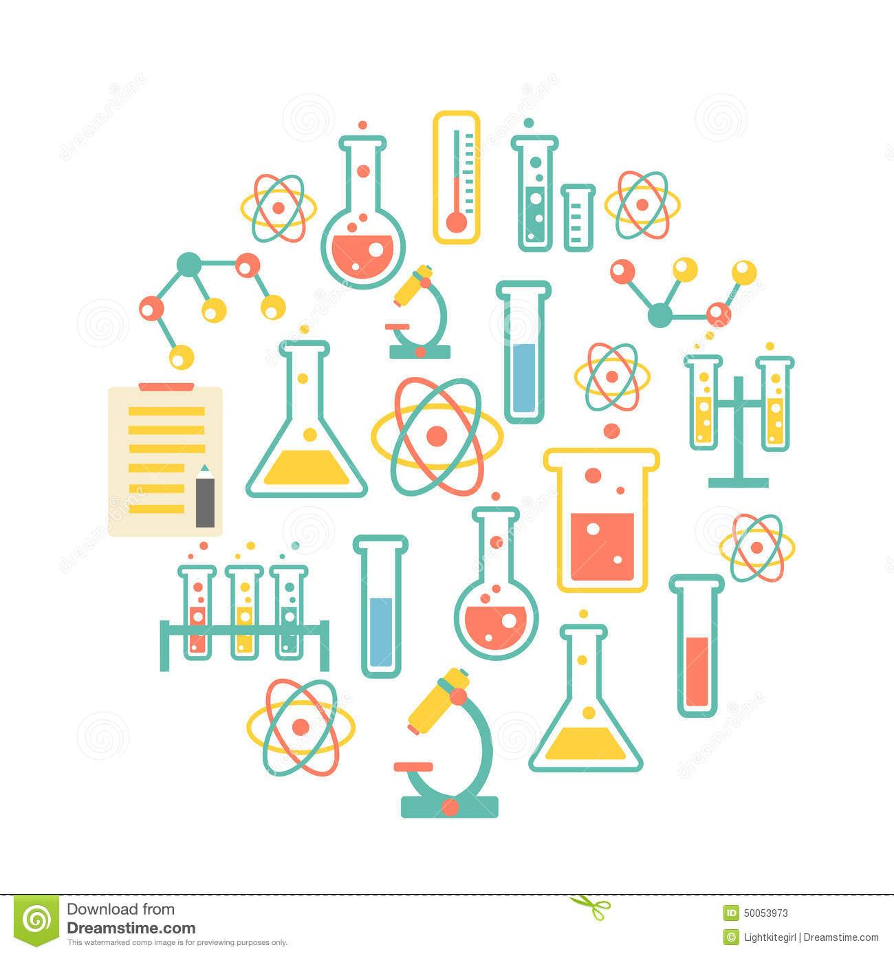 Chemistry Icons Background Download From Over 53 Million