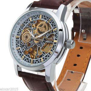 Luxury-Mens-Skeleton-Steampunk-Automatic-Mechanical-Sport-Dress-Army-Wrist-watch