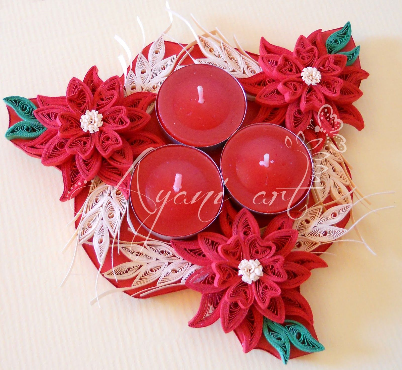 Ayani art | Quilling - Candle Holders | filigrana 3D ... - photo#40