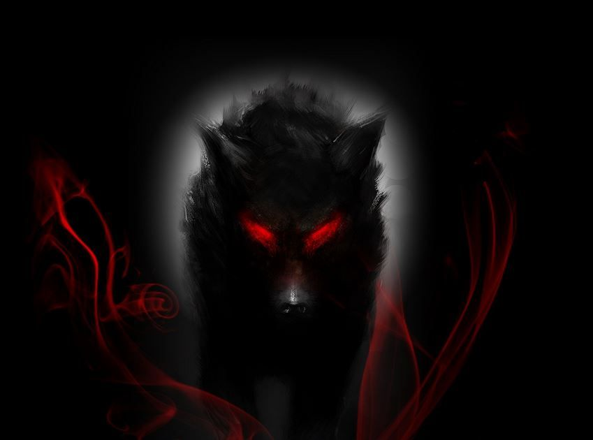 Black Wolf Wallpaper Hd With Images Shadow Wolf Demon Wolf